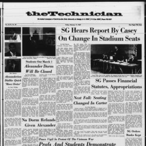Technician, Vol. 47 No. 40 [Vol. 47 No. 40], February 17, 1967
