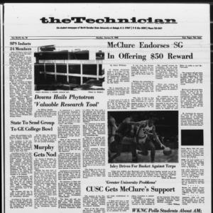 Technician, Vol. 47 No. 34 [Vol. 48 No. 34], January 8, 1968