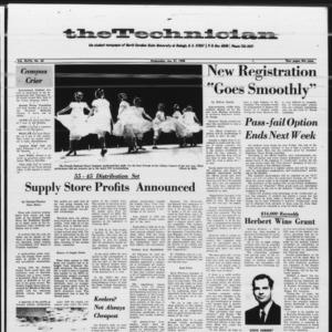 Technician, Vol. 47 No. 35 [Vol. 48 No. 35], January 31, 1968