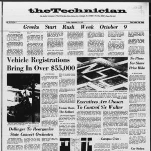 Technician, Vol. 47 No. 5 [Vol. 48 No. 5], September 22, 1967