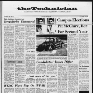 Technician, Vol. 47 No. 62 [Vol. 48 No. 62], April 3, 1968