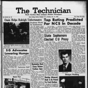 Technician, Vol. 47 No. 13 [Vol. 43 No. 12], October 15, 1962