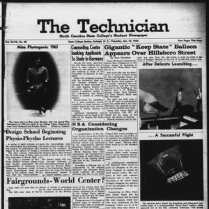 Technician, Vol. 47 No. 40 [Vol. 43 No. 39], January 10, 1963