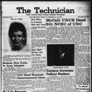 Technician, Vol. 47 No. 42 [Vol. 43 No. 41], January 16, 1963