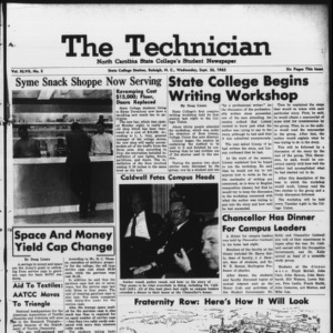 Technician, Vol. 47 No. 5 [Vol. 43 No. 5], September 26, 1962
