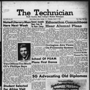 Technician, Vol. 47 No. 56 [Vol. 43 No. 55], March 7, 1963
