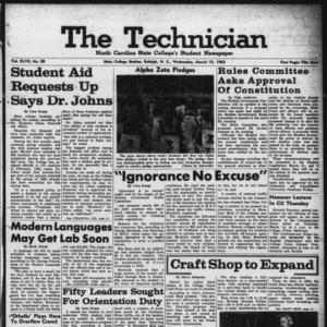 Technician, Vol. 47 No. 58 [Vol. 43 No. 57], March 13, 1963
