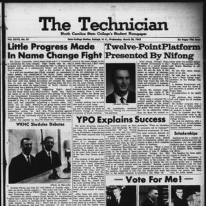 Technician, Vol. 47 No. 61 [Vol. 43 No. 60], March 20, 1963