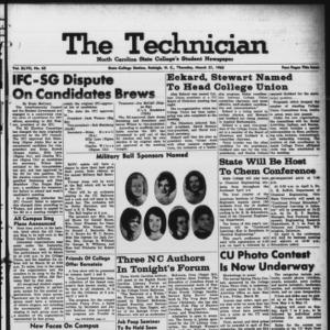 Technician, Vol. 47 No. 62 [Vol. 43 No. 61], March 21, 1963