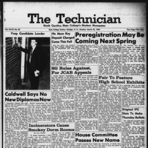 Technician, Vol. 47 No. 63 [Vol. 43 No. 62], March 25, 1963