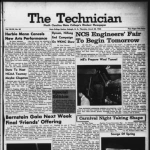 Technician, Vol. 47 No. 65 [Vol. 43 No. 64], March 28, 1963