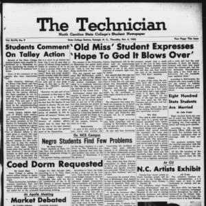 Technician, Vol. 47 No. 9 [Vol. 43 No. 9], October 4, 1962