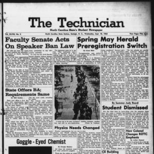 Technician, Vol. 48 No. 2 [Vol. 44 No. 2], September 18, 1963