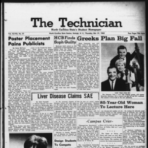 Technician, Vol. 48 No. 21 [Vol. 44 No. 21], October 31, 1963