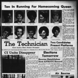 Technician, Vol. 48 No. 23 [Vol. 44 No. 23], November 6, 1963