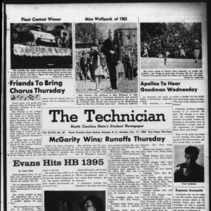 Technician, Vol. 48 No. 25 [Vol. 44 No. 25], November 11, 1963
