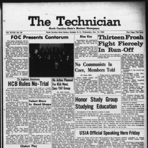 Technician, Vol. 48 No. 26 [Vol. 44 No. 26], November 13, 1963
