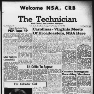 Technician, Vol. 48 No. 27 [Vol. 44 No. 27], November 14, 1963