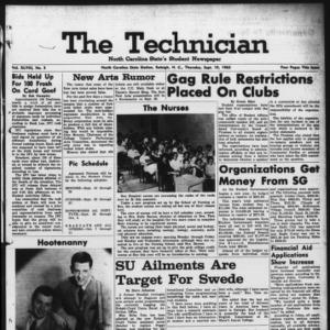 Technician, Vol. 48 No. 3 [Vol. 44 No. 3], September 19, 1963