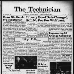 Technician, Vol. 48 No. 32 [Vol. 44 No. 32], December 4, 1963