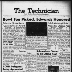 Technician, Vol. 48 No. 33 [Vol. 44 No. 33], December 5, 1963