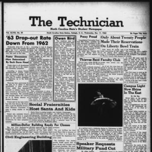 Technician, Vol. 48 No. 35 [Vol. 44 No. 35], December 11, 1963