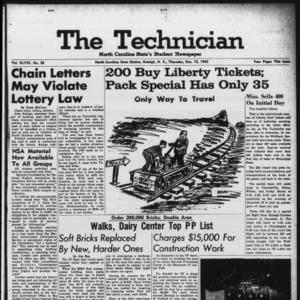 Technician, Vol. 48 No. 36 [Vol. 44 No. 36], December 12, 1963