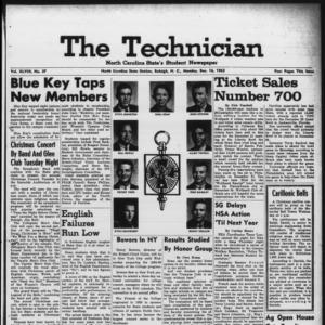 Technician, Vol. 48 No. 37 [Vol. 44 No. 37], December 16, 1963