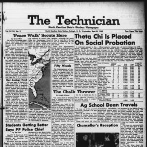 Technician, Vol. 48 No. 5 [Vol. 44 No. 5], September 25, 1963