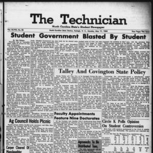 Technician, Vol. 48 No. 82 [Vol. 44 No. 82], May 11, 1964