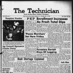 Technician, Vol. 48 No. 9 [Vol. 44 No. 9], October 3, 1963