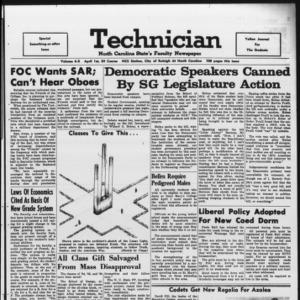 Technician, Vol. 48 No. X [Vol. 44 No. 65], April 1, 1964