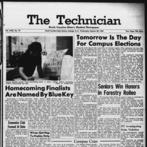 Technician, Vol. 49 No. 19 [Vol. 45 No. 19], October 28, 1964