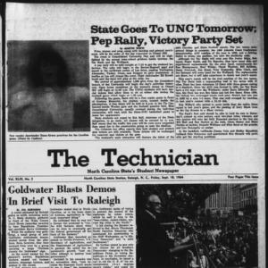 Technician, Vol. 49 No. 2 [Vol. 45 No. 2], September 18, 1964