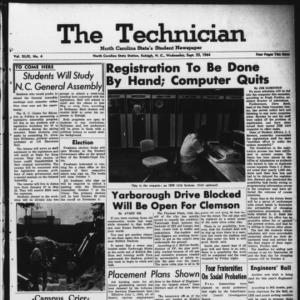 Technician, Vol. 49 No. 4 [Vol. 45 No. 4], September 23, 1964