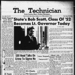 Technician, Vol. 49 No. 40 [Vol. 45 No. 39], January 8, 1965