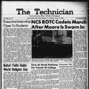 Technician, Vol. 49 No. 41 [Vol. 45 No. 40], January 11, 1965
