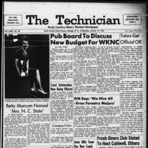 Technician, Vol. 49 No. 42 [Vol. 45 No. 41], January 13, 1965