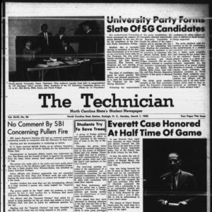 Technician, Vol. 49 No. 56 [Vol. 45 No. 53], March 1, 1965