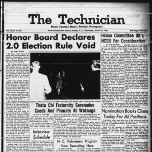 Technician, Vol. 49 No. 60 [Vol. 45 No. 57], March 10, 1965
