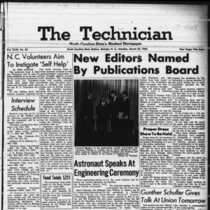 Technician, Vol. 49 No. 65 [Vol. 45 No. 61], March 22, 1965
