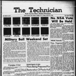 Technician, Vol. 49 No. 66 [Vol. 45 No. 63], March 26, 1965