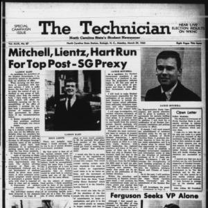 Technician, Vol. 49 No. 67 [Vol. 45 No. 64], March 29, 1965