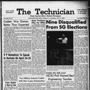 Technician, Vol. 49 No. 74 [Vol. 45 No. 71], April 14, 1965
