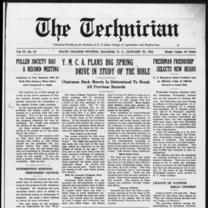 Technician, Vol. 4 No. 19, January 25, 1924