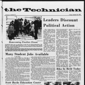 Technician, Vol. 51 No. 27, October 30, 1970