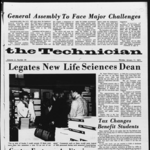 Technician, Vol. 51 No. 44, January 11, 1971