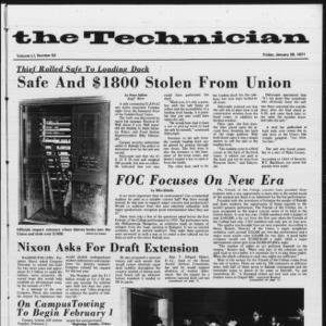Technician, Vol. 51 No. 52, January 29, 1971