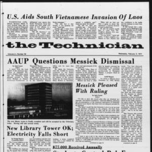Technician, Vol. 51 No. 54, February 3, 1971