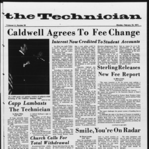 Technician, Vol. 51 No. 59, February 15, 1971